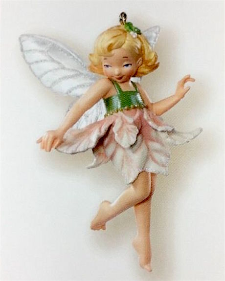 Hallmark 2007 Fairy Messengers SE - Poinsettia Fairy Repaint-Ornament-Oakview Collectibles