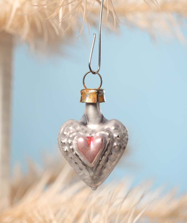 Bethany Lowe German Glass Tiny Heart Ornament-Ornament-Oakview Collectibles