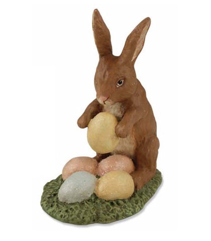 Bethany Lowe Rabbit with Eggs - Sitting-Figurine-Oakview Collectibles