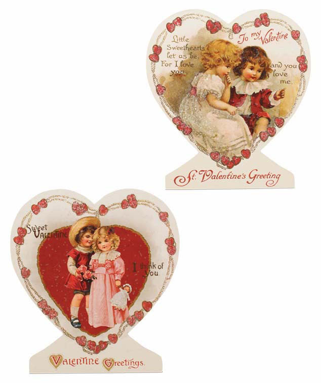 Bethany Lowe Valentines Day Heart Dummy Boards Set of 2-Dummy Board-Oakview Collectibles