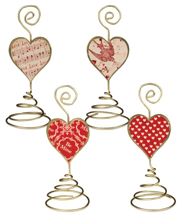 Bethany Lowe Valentines Day Placecard Holders Set of 4-Placecard Holder-Oakview Collectibles