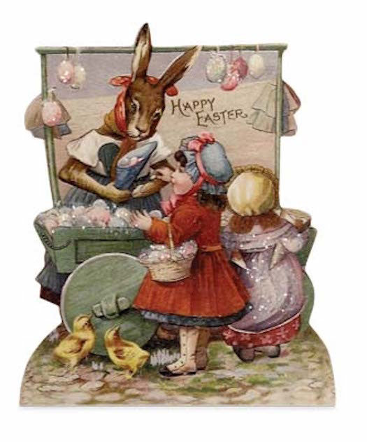 "Bethany Lowe Farmers Market 6.5"" Dummy Board - Happy Easter-Dummy Board-Oakview Collectibles"