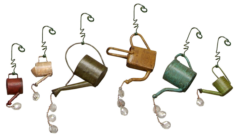 Primitives By Kathy Sprinkling Cans Ornaments Set of 6-Ornament-Oakview Collectibles