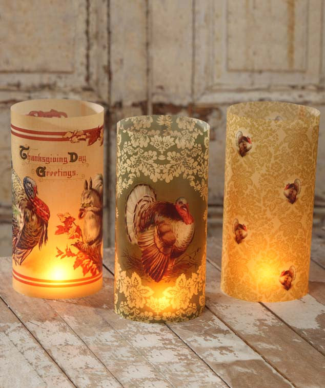 Bethany Lowe Thanksgiving Luminaries Set of 6-Candle Decor-Oakview Collectibles