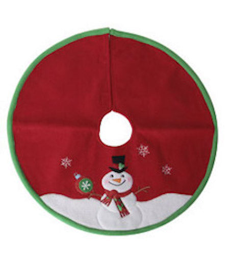 Darice Snowman Mini Tree Skirt - 18in-Tree Skirt-Oakview Collectibles