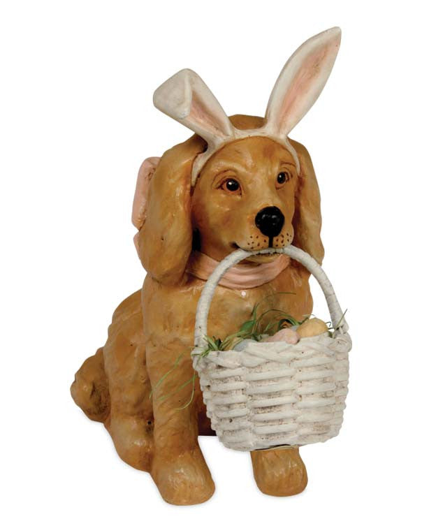 Bethany Lowe Easter Puppy-Figurine-Oakview Collectibles