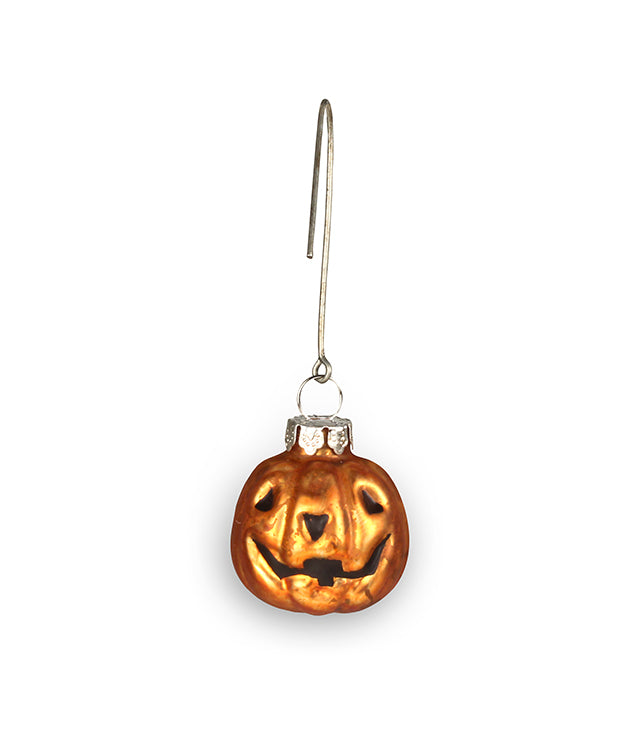Bethany Lowe Jack O Lantern Glass Mini Ornament-Ornament-Oakview Collectibles