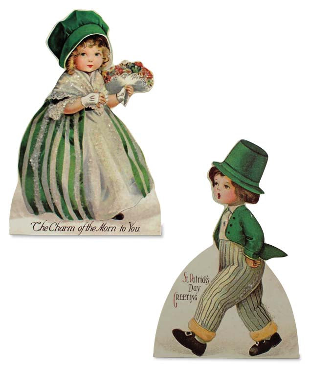Bethany Lowe St Patricks Dummy Board Set of 2-Dummy Board-Oakview Collectibles
