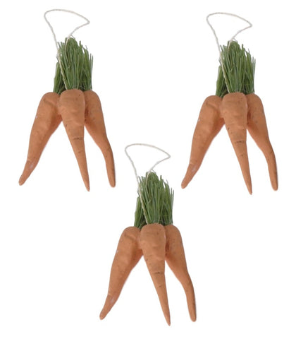 Bethany Lowe Bunch of Mini Carrots Ornament - Set of 3-Ornament-Oakview Collectibles