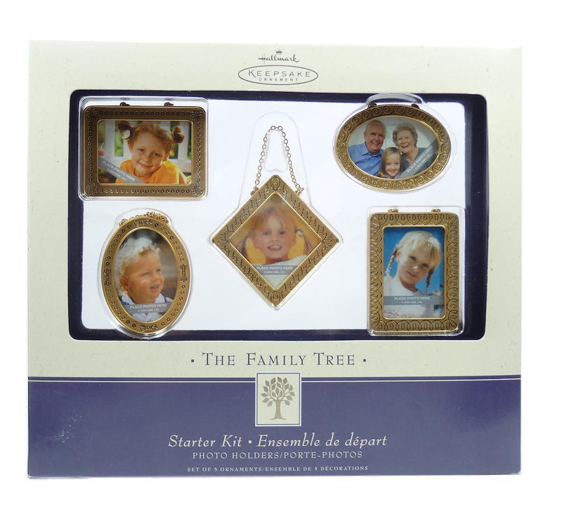 Hallmark 2004 Family Tree Gold Starter Kit Set of 5-Ornament-Oakview Collectibles