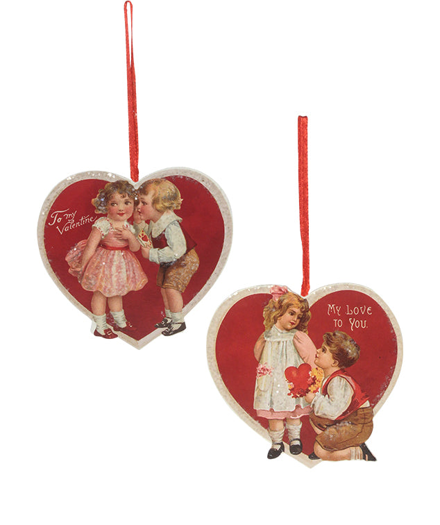 Bethany Lowe Valentine Children Ornament Set of 2-Ornament-Oakview Collectibles