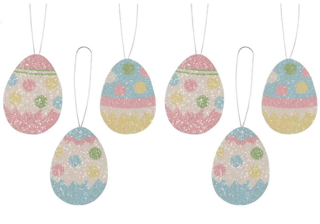 Bethany Lowe Polka Dot Tin Easter Egg Ornament Set of 6-Ornament-Oakview Collectibles