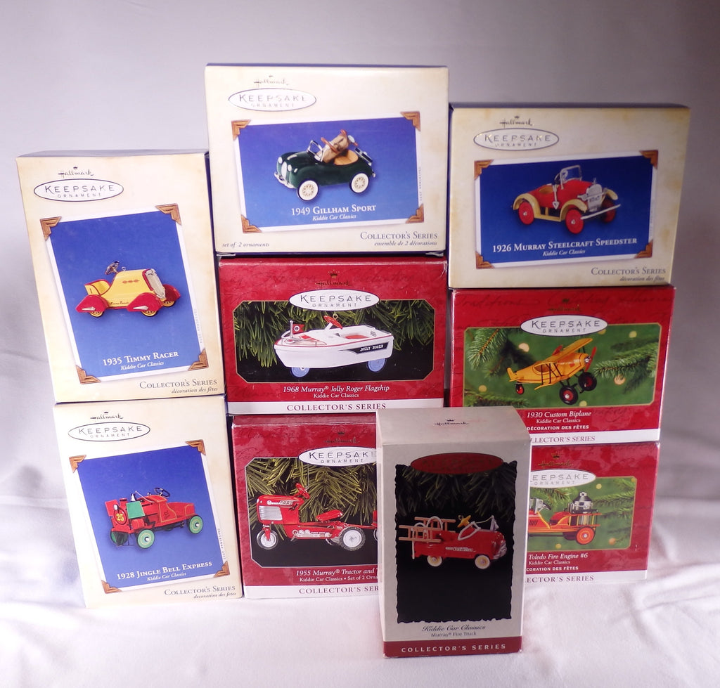 Hallmark Kiddie Car Classics Lot of 9-Ornament-Oakview Collectibles