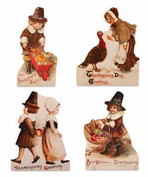 Bethany Lowe Thanksgiving Dummy Board Set of 4-Dummy Board-Oakview Collectibles