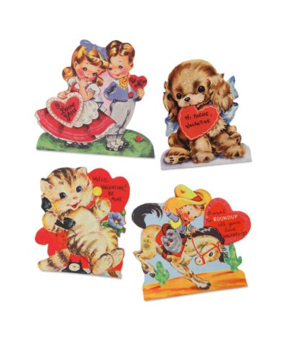 Bethany Lowe Retro Valentines Dummy Boards Set of 4-Dummy Boards-Oakview Collectibles