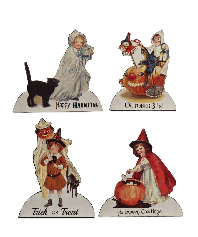 Bethany Lowe Trick or Treat Child Dummy Boards Set of 4-Dummy Boards-Oakview Collectibles