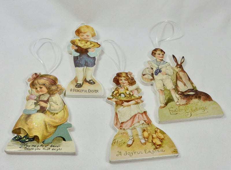 Bethany Lowe Spring Children Ornament Set of 4-Ornament-Oakview Collectibles