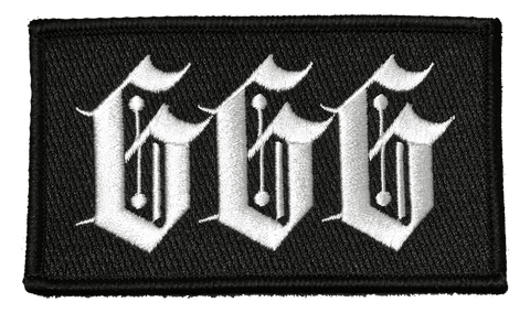 666 - Embroidered Patch