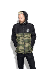 Staple Black on Camo - Lightweight Windbreaker