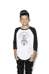 Moth Planchette - Child's Baseball Tee