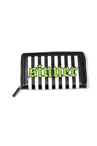 Sinner Green Stripe - Wallet