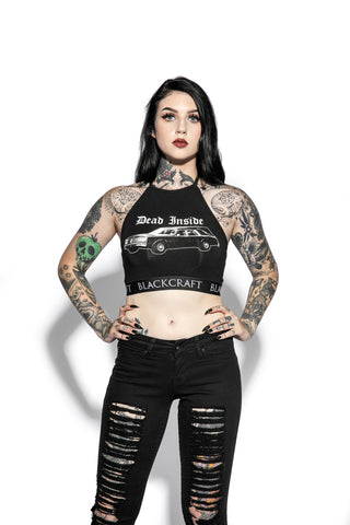 Hearse - Women's Halter Crop
