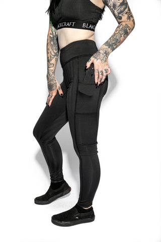 Blackcraft Black Stripe - Active Leggings