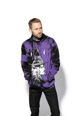 Duality - Purple Lightning Dye Hooded Pullover
