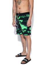 Believe In Yourself - Green Lightning Board Shorts