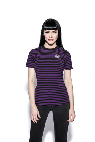 Believe In Yourself - Purple Striped Women's Tee