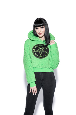 Believe In Yourself - Green Women's Sherpa Hoodie