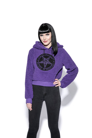 Believe In Yourself - Purple Women's Sherpa Hoodie