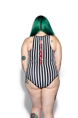 Sinner Stripe Zip One Piece
