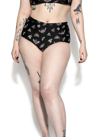 Pastel Death Moth High Waist Swim Bottom