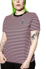 Believe In Yourself - Pink Striped Women's Tee