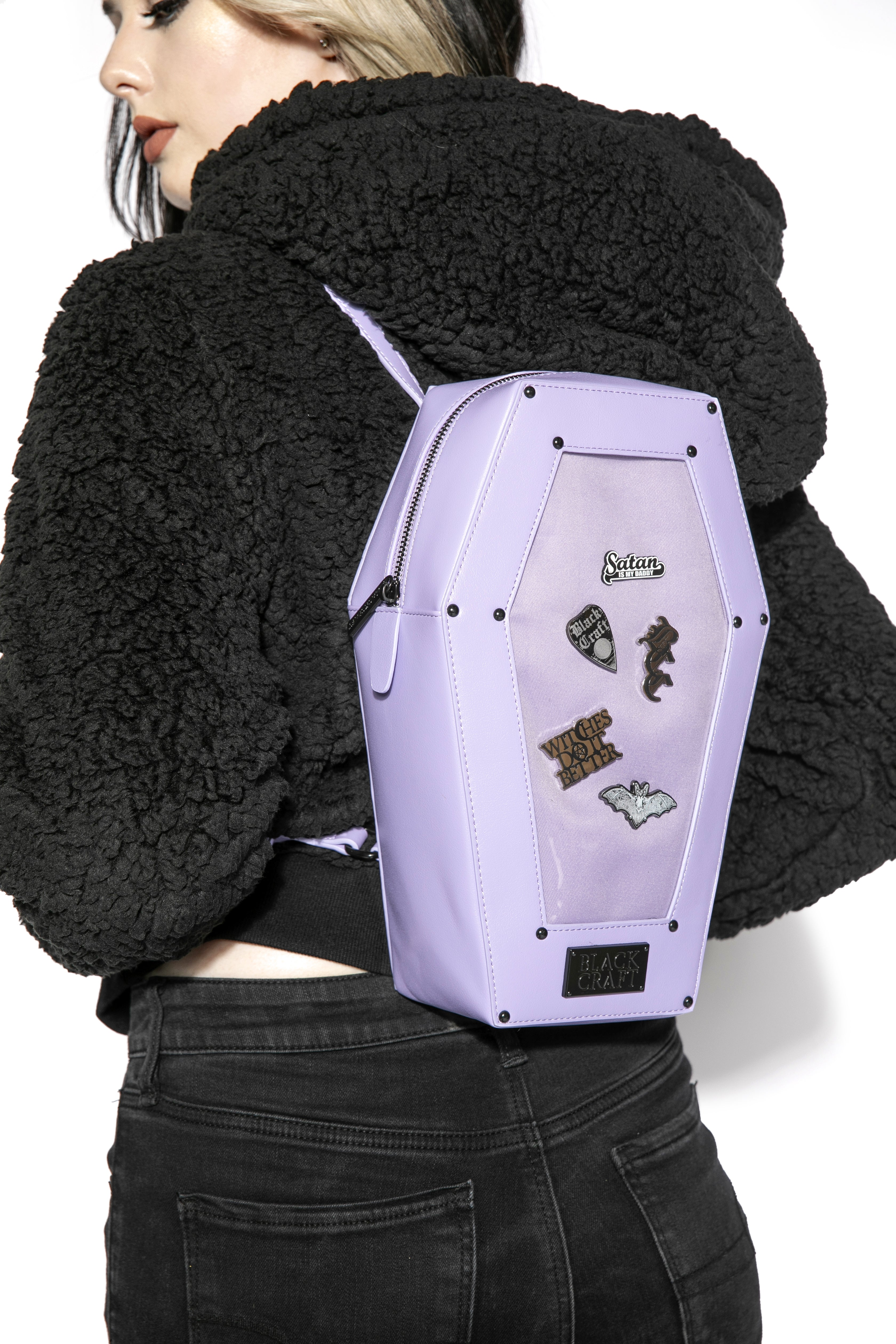 Purple Pin Collector - Coffin Backpack