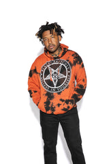 Believe In Yourself - Orange Lightning Dye Hooded Pullover