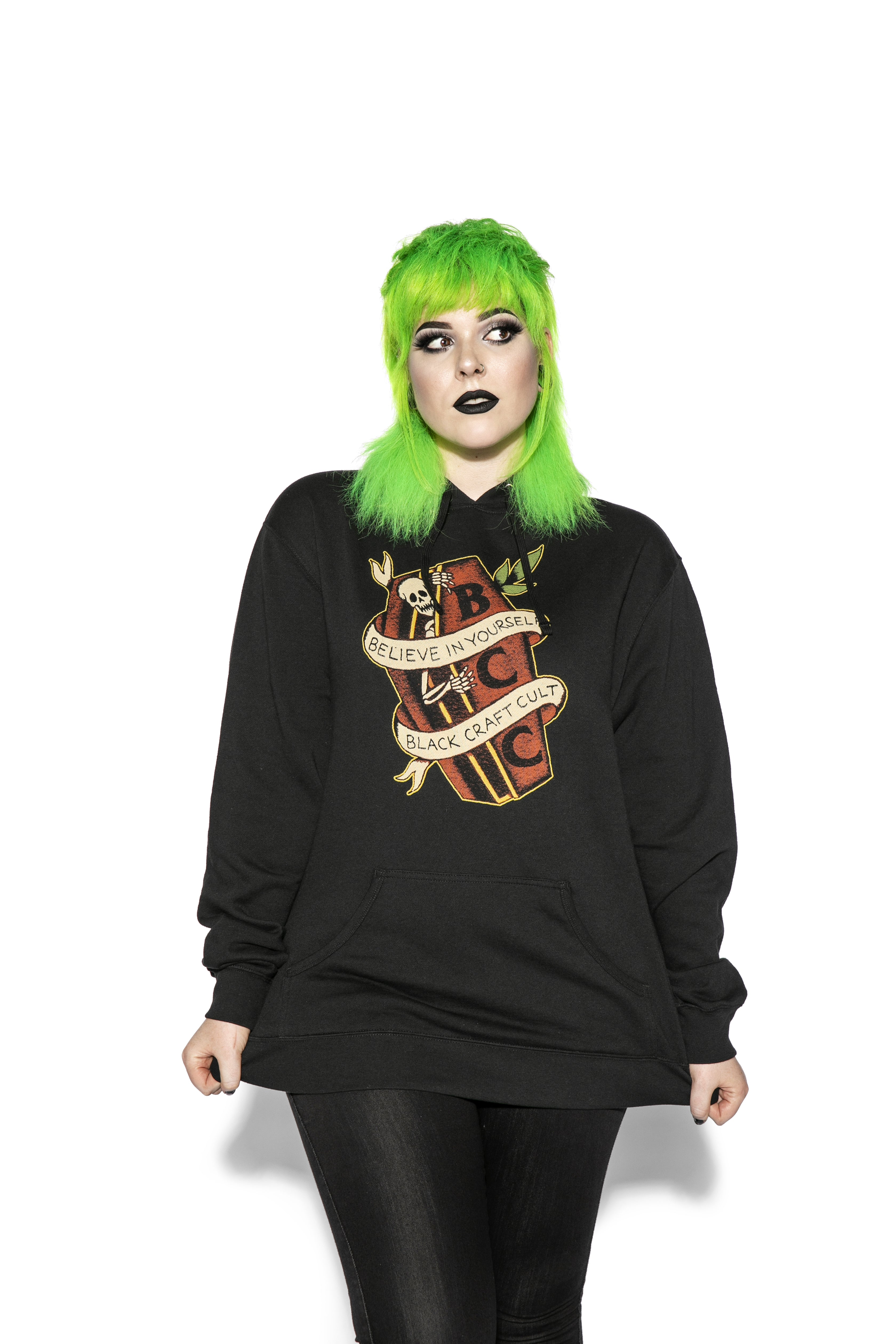 Coffin Skeleton - Hooded Pullover Sweater