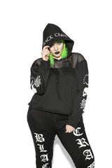 Spirits Of The Dead - Mesh Crop Hoodie