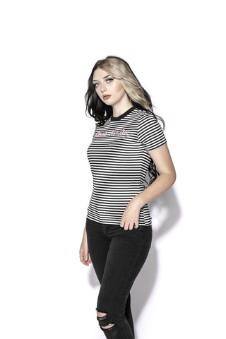 Dead Inside - Striped Women's Tee