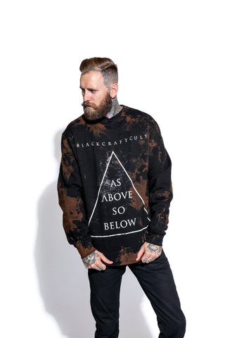 As Above So Below - Men's Bleach Wash Crewneck
