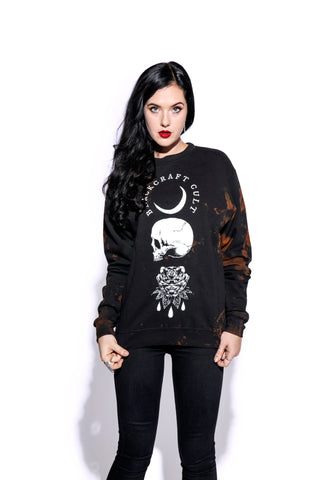 Spirits Of The Dead - Men's Bleach Wash Crewneck
