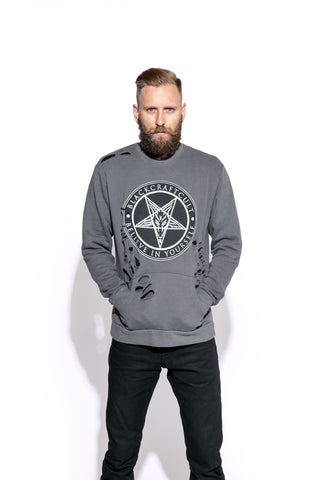 Believe In Yourself - Shredded Pocket Crewneck