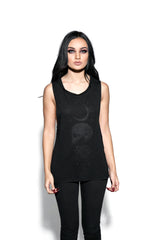 Spirits Of The Dead Black On Black - Flowy Muscle Tank