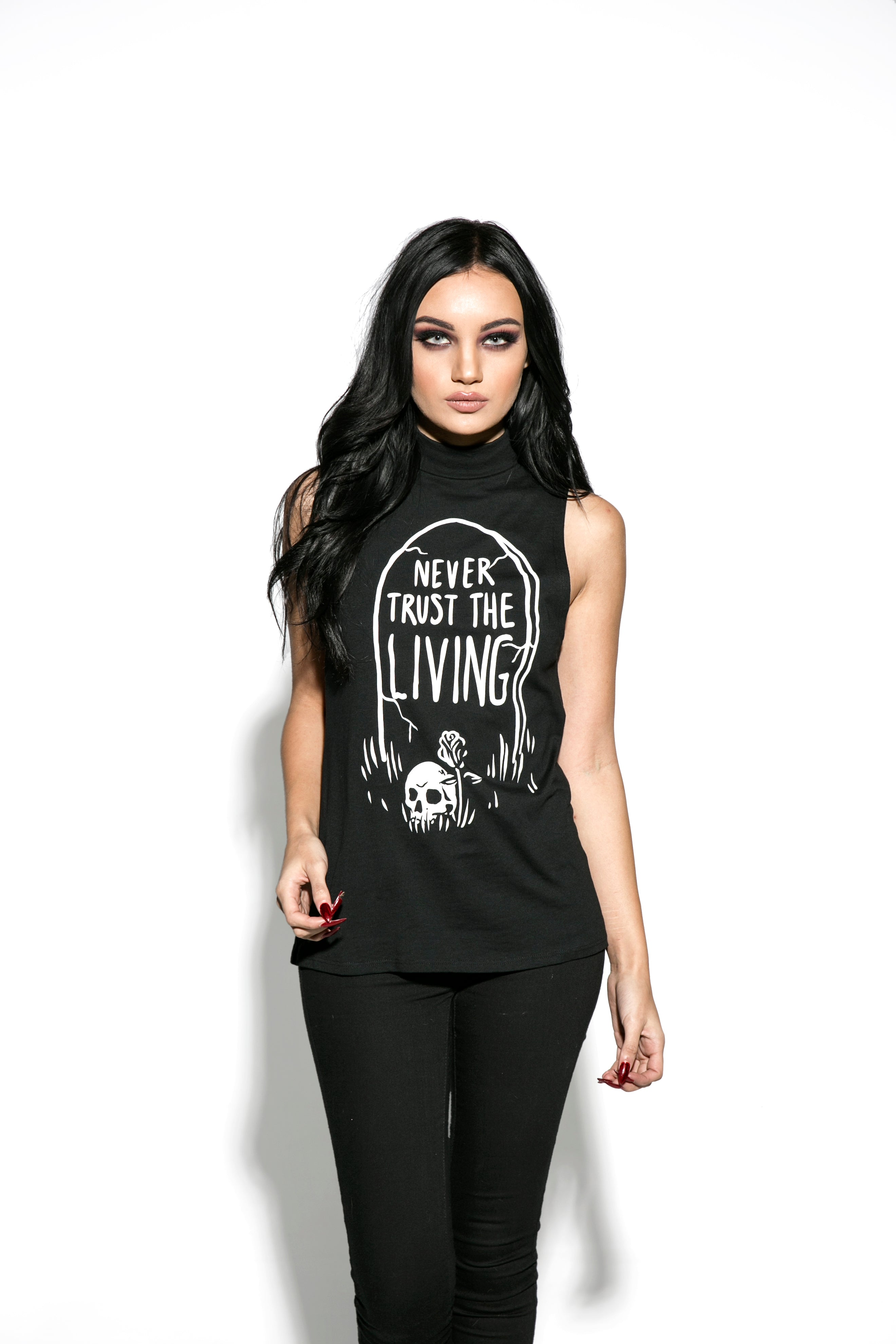 Never Trust The Living - Sleeveless High Neck
