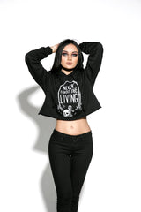 Never Trust The Living - Women's Cropped Hoodie