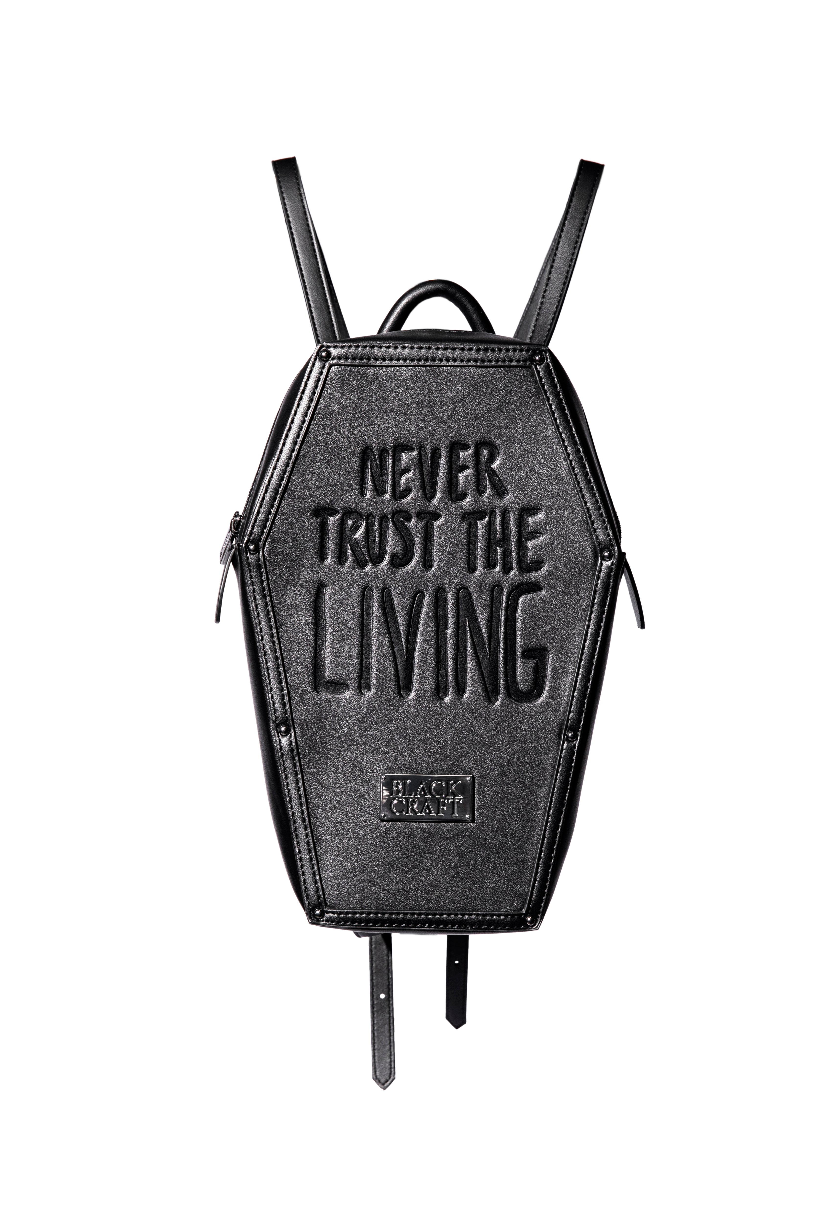 Never Trust - Coffin Backpack