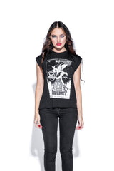 Dance Of The Baphomet - Flowy Muscle Tee with Rolled Cuff