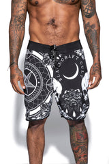 Baroque Print - Board Shorts