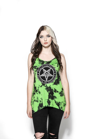 Believe In Yourself - Green Lightning Dye Tank Top